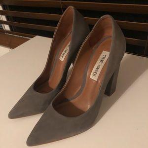 Chunky pointy heels